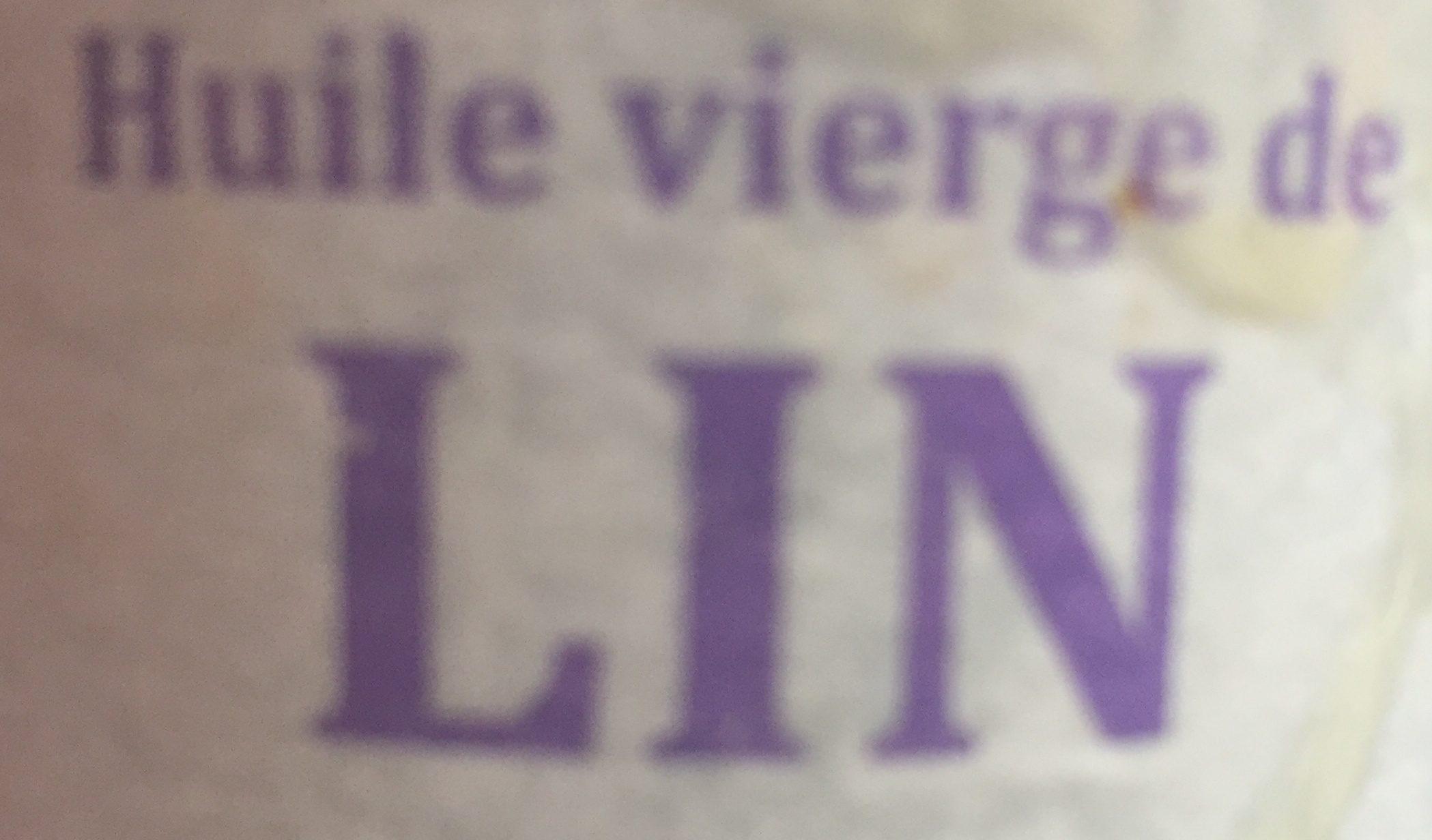 HUILE VIERGE DE LIN BIO - Ingrédients - fr