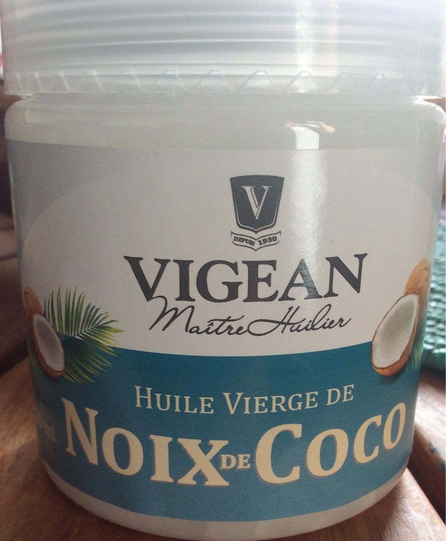huile vierge de noix de coco biologique vigean