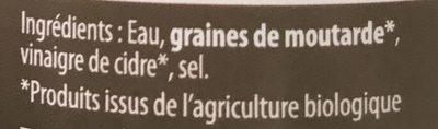 Moutarde - Ingrédients