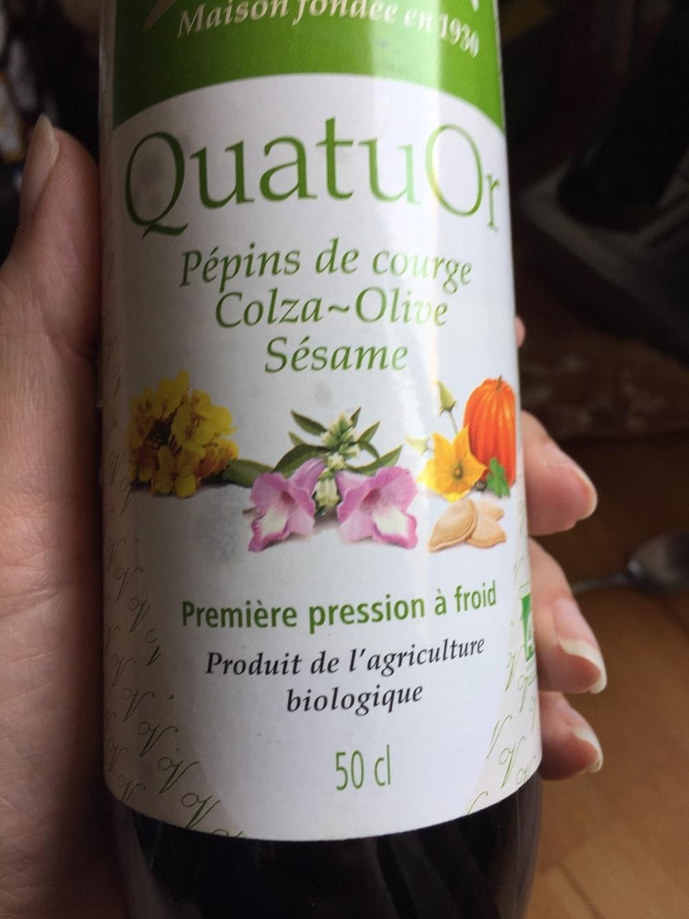 Huile de Pépins de courge Colza~Olive Sésame Première pression à froid - Product