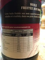 Huile Fruitée aux Noix - Informations nutritionnelles