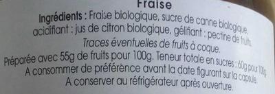 Confiture de Fraise - Ingrediënten
