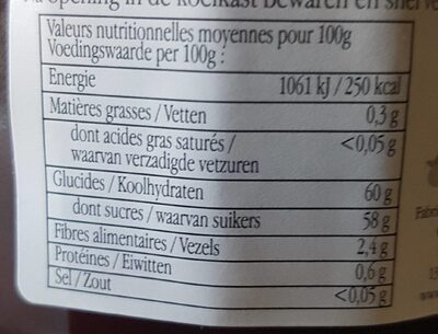 4 fruits rouge - Nutrition facts - fr