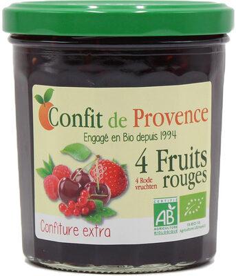 Confit De Provence 4 Fruits Rouges - Nutrition facts - fr