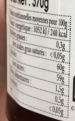 Confiture extra Fraise - Informations nutritionnelles
