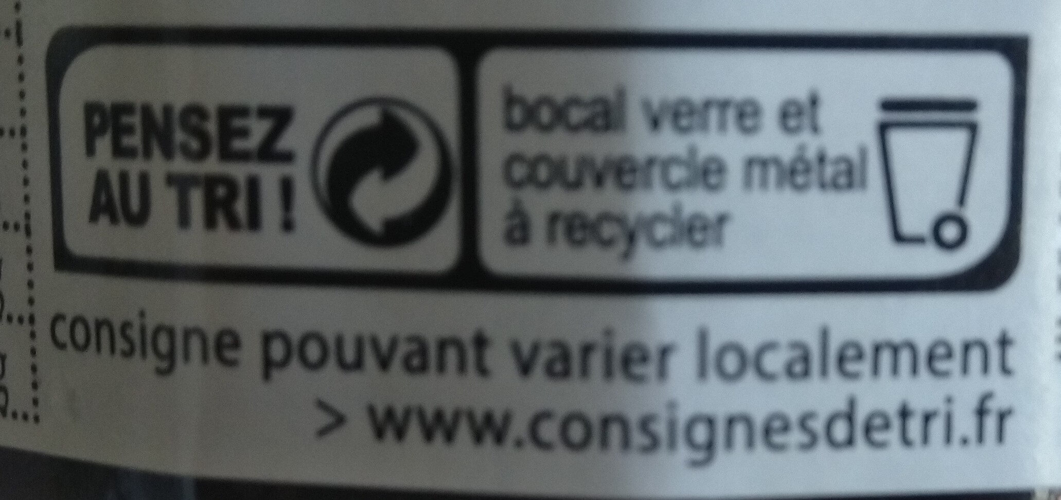 Confiture myrtille - Recycling instructions and/or packaging information - fr