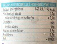 Happy fruit myrtille - Valori nutrizionali - fr