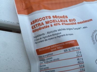 Abricots seches extra moelleux - Ingredients - fr