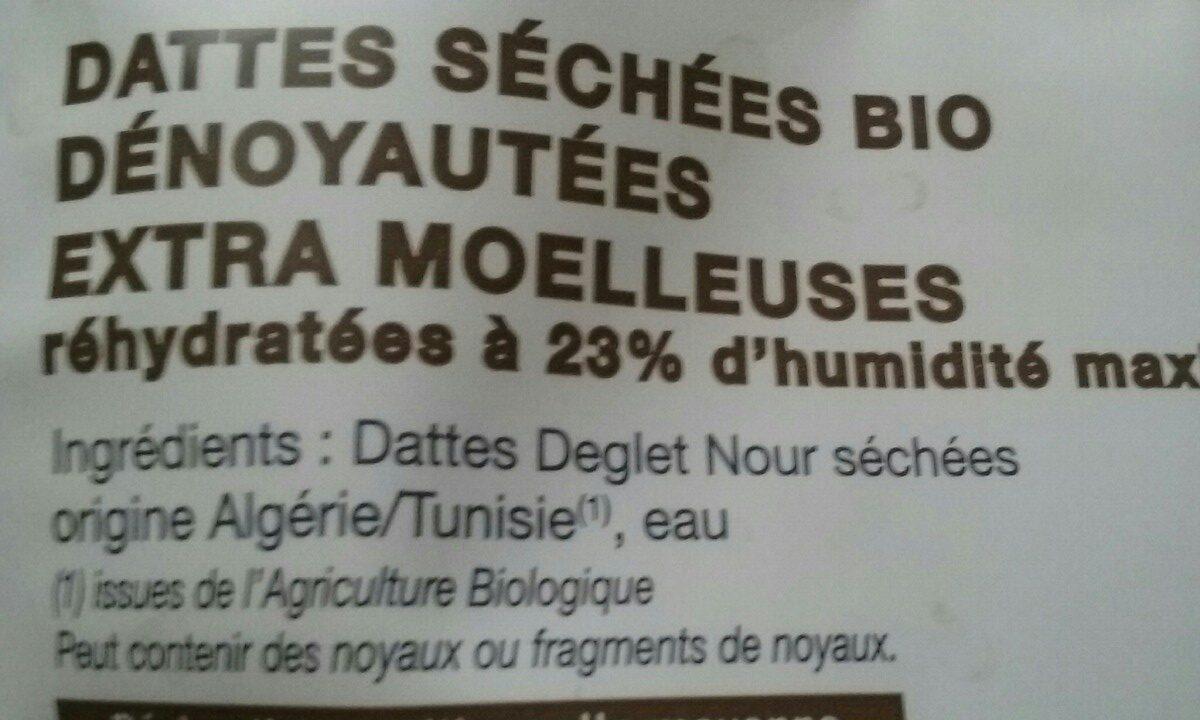 Dattes dénoyautées - Ingredients - fr