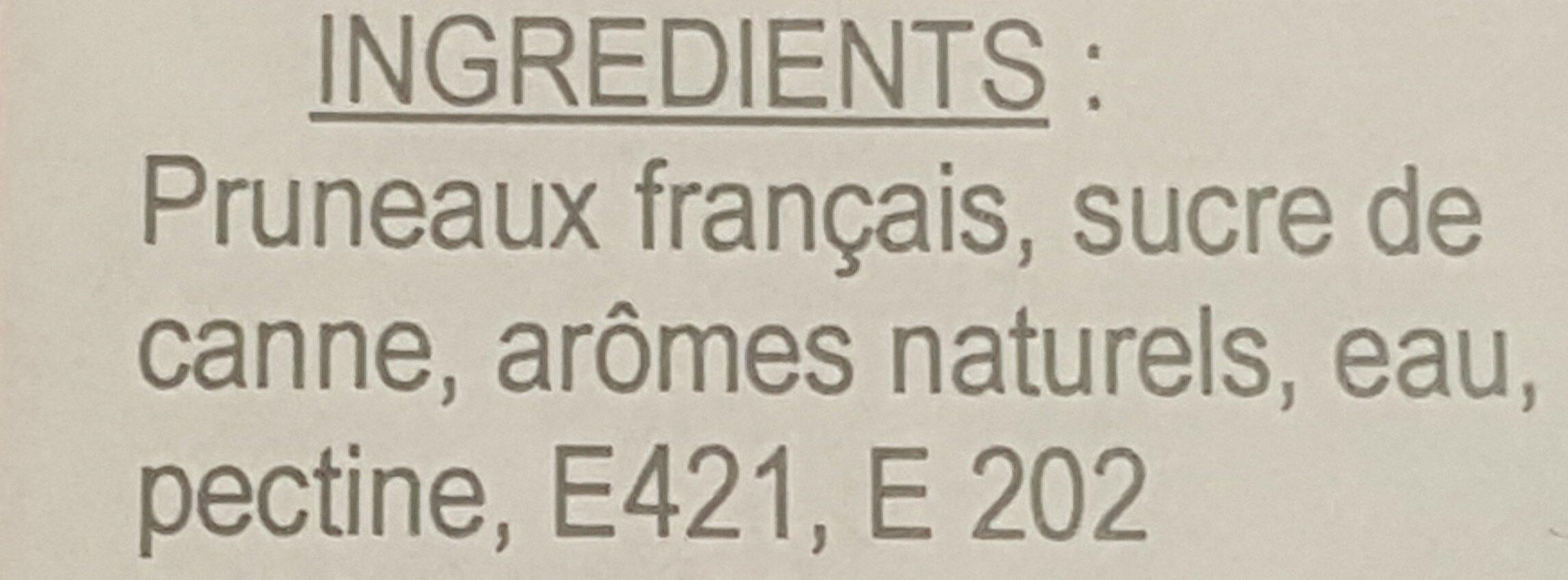 Pruneaux fourrés - Ingrédients