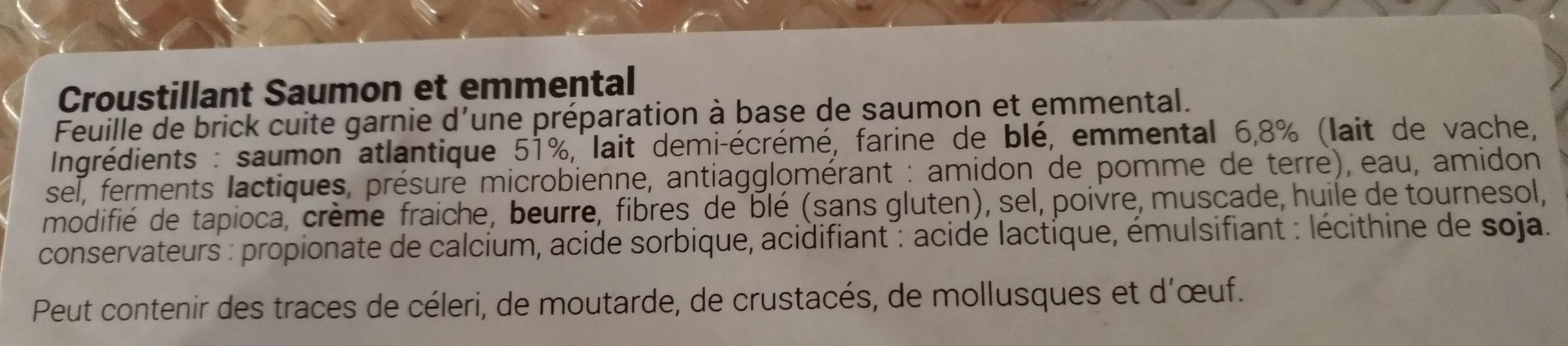 Croustillants de Saumon & emmental - Ingrédients - fr
