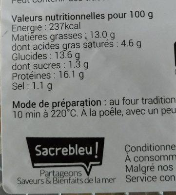 Croustillants de Saumon & emmental - Informations nutritionnelles - fr