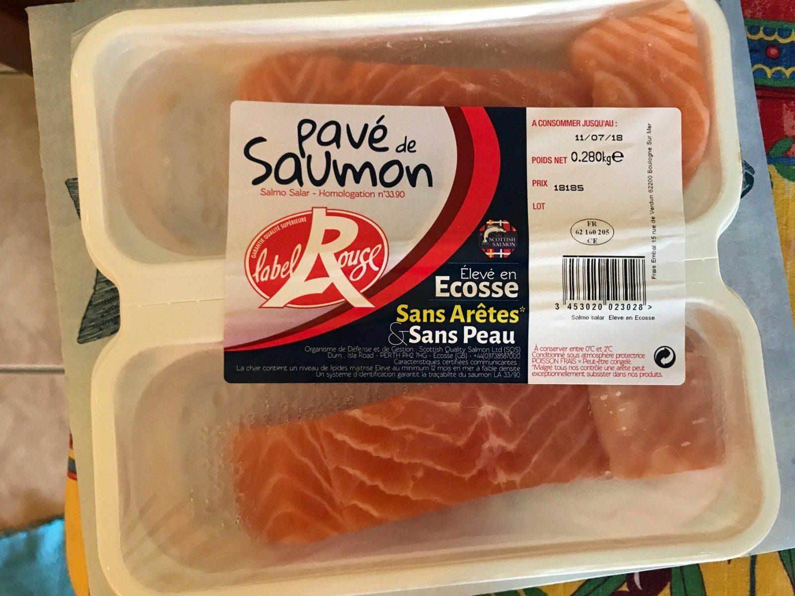 Pavé de Saumon - Voedingswaarden - fr