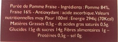 La Tendre Pomme Fraise - Ingrédients