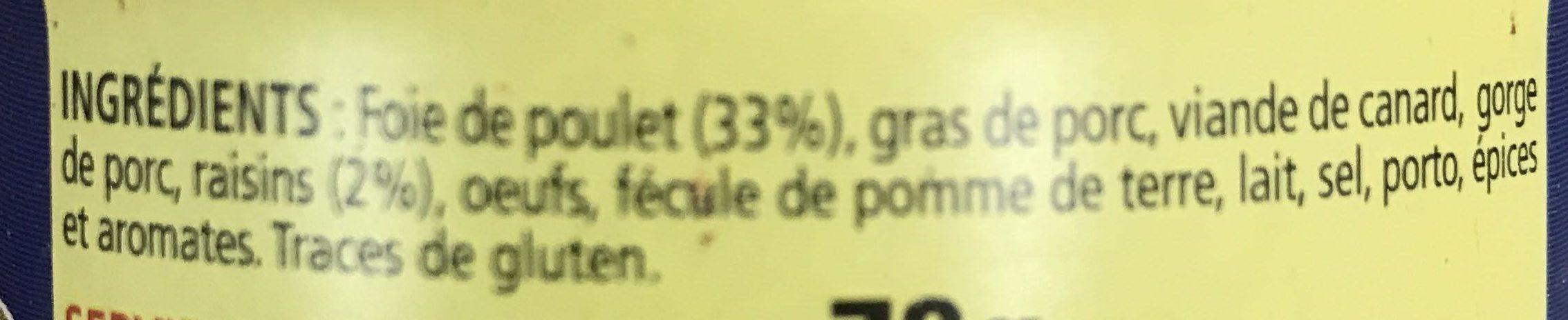 Foie de volaille au Raisin - Ingrédients