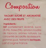 La Fontaine à Yaourt aux fraises mixées - Ingrédients - fr