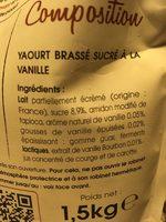 La Fontaine à Yaourt à Boire Vanille Bourbon - Ingrédients