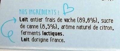 Yahourt - Ingredients