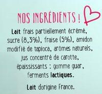 Fontaine à yaourt aux fraises mixées - Ingredienti - fr