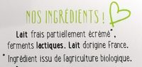 Yo gourmand - Ingredients