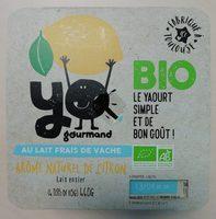 Yaourt vache Citron Bio - Produit - fr