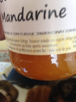 Confiture Mandarine - Ingredients - fr
