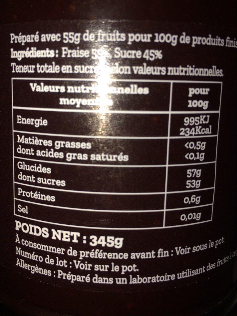 Confiture de fraise - Nutrition facts