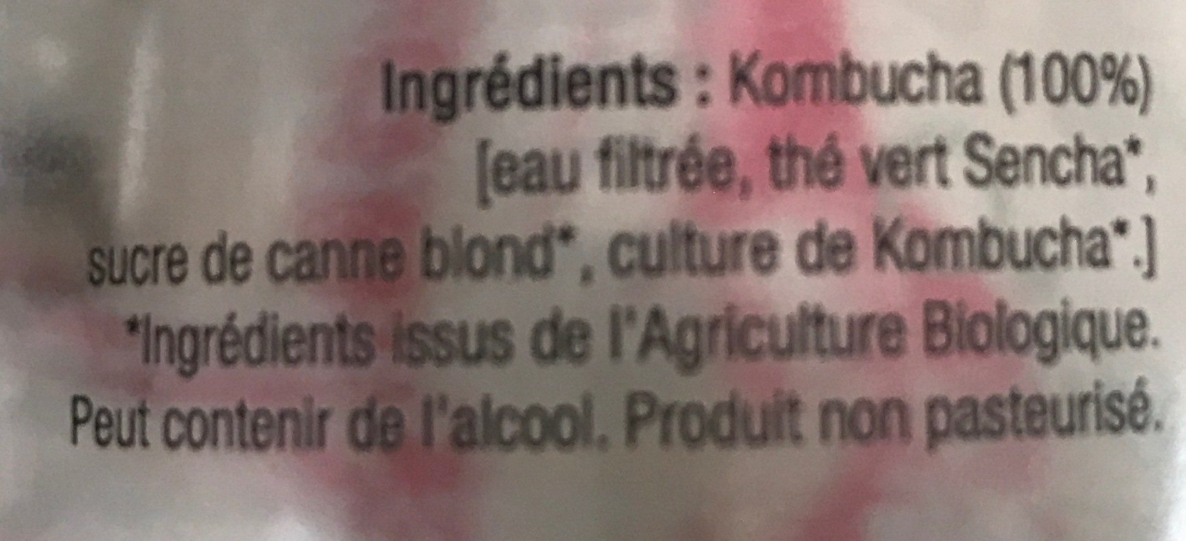Kombucha nature - Ingredients - fr