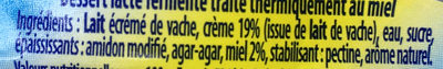 Creamy Touch Miel - Ingrédients - fr