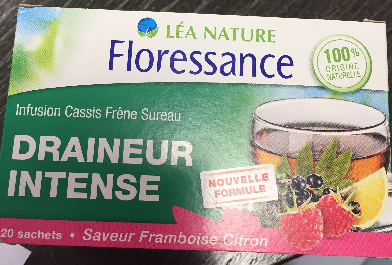 Draineur Intense Saveur Framboise Citron - Floressance