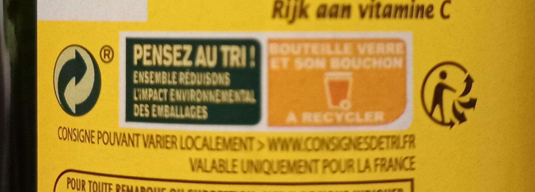 Pur jus de citron origine Sicile - Instruction de recyclage et/ou information d'emballage - fr
