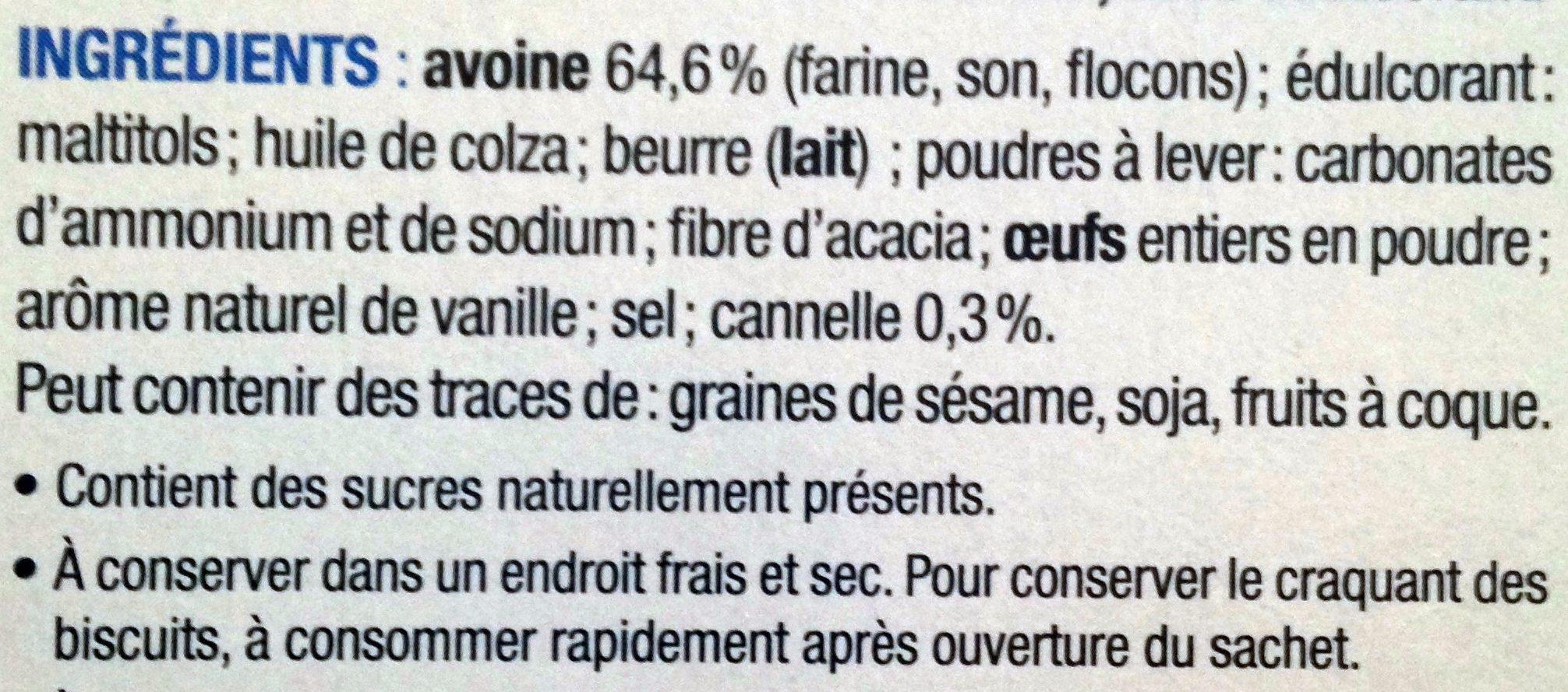 Croustillants Petit Avoine - Ingrédients