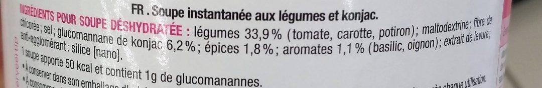 Soupe coupe faim au Konjac - Ingredients - fr