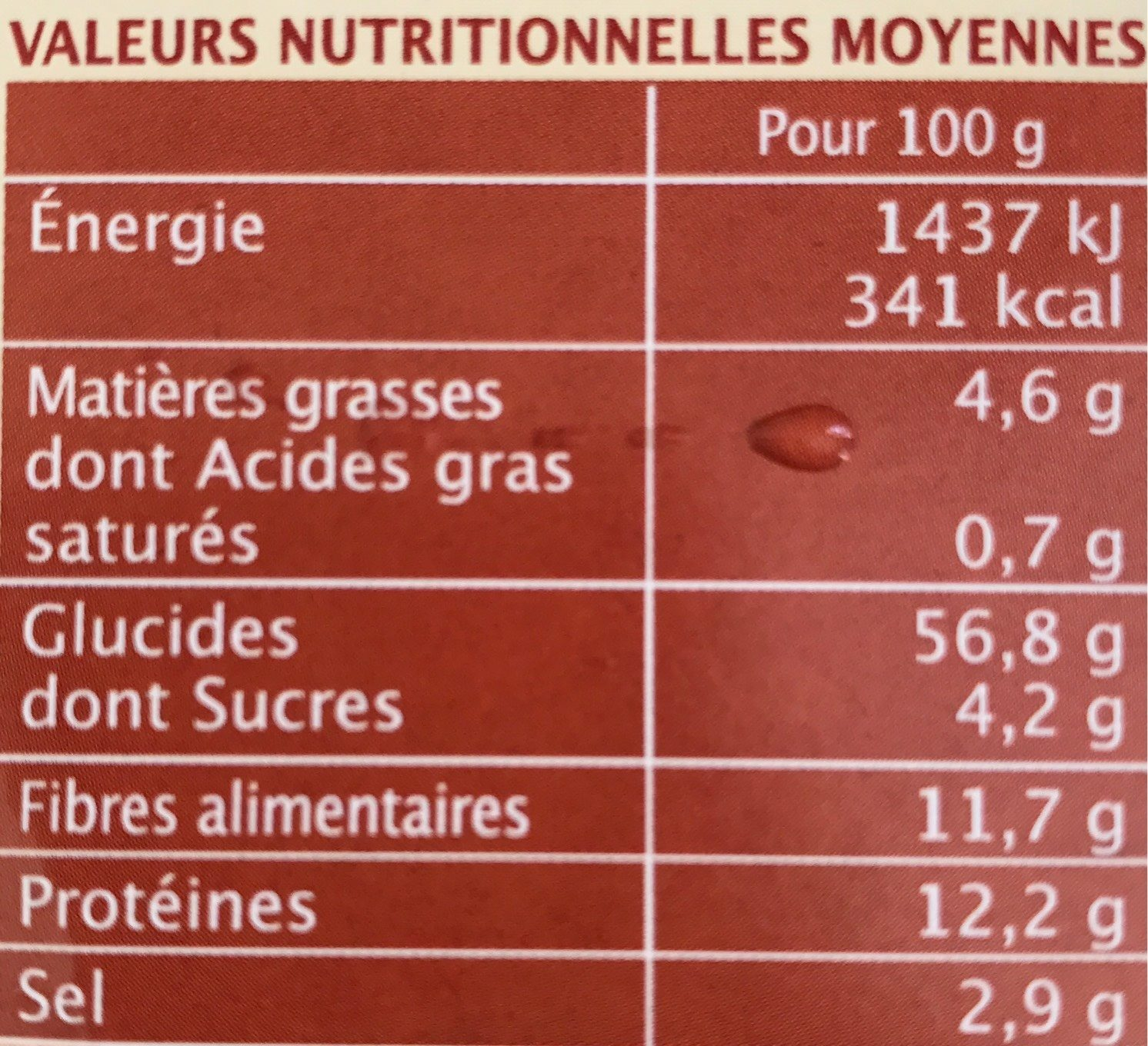 Préparation pour steaks veggie aux 3 céréales - Nutrition facts - fr