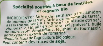 Chips de lentilles (oignons) - Ingredients