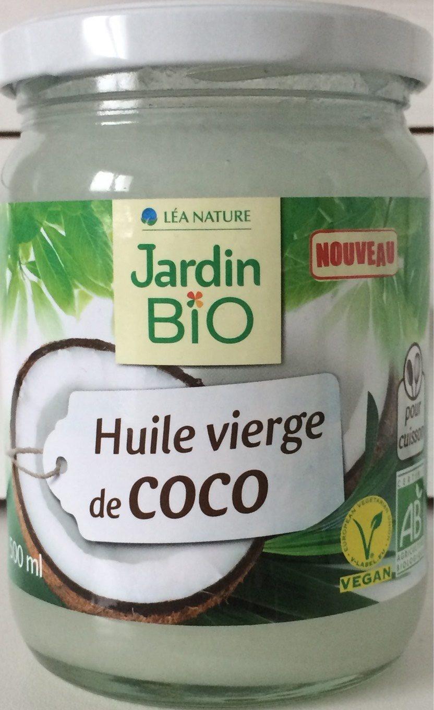 huile vierge de coco l a nature jardin bio 460 g 500 ml