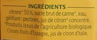 Confiture extra citron d'espagne - Ingredients