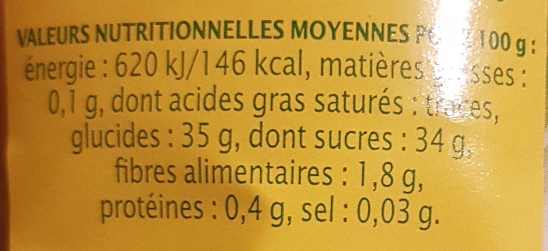 Confiture extra citron d'espagne - Nutrition facts