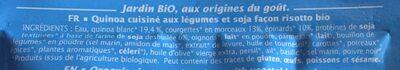 Quinotto Légumes verts Parmesan - Ingredientes - fr