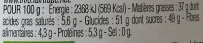 Pate à tartiner chocolat noisette sans gluten bio - Valori nutrizionali - fr