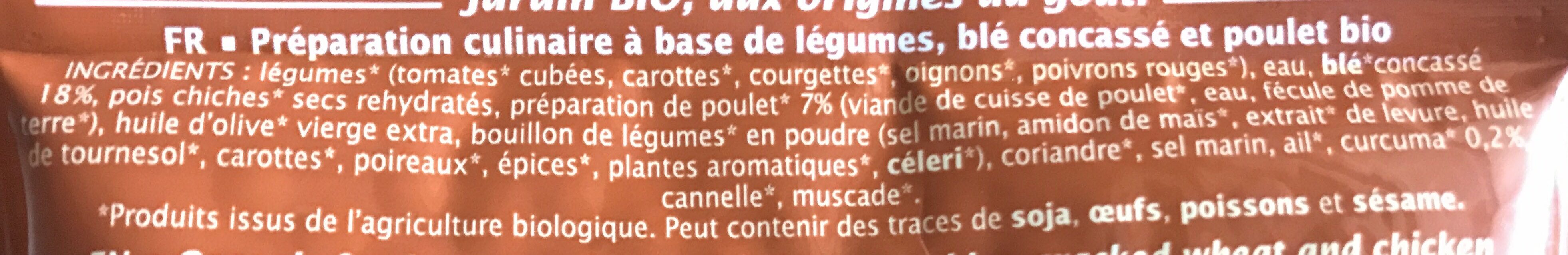 Couscous poulet et curcuma - Ingredientes - fr