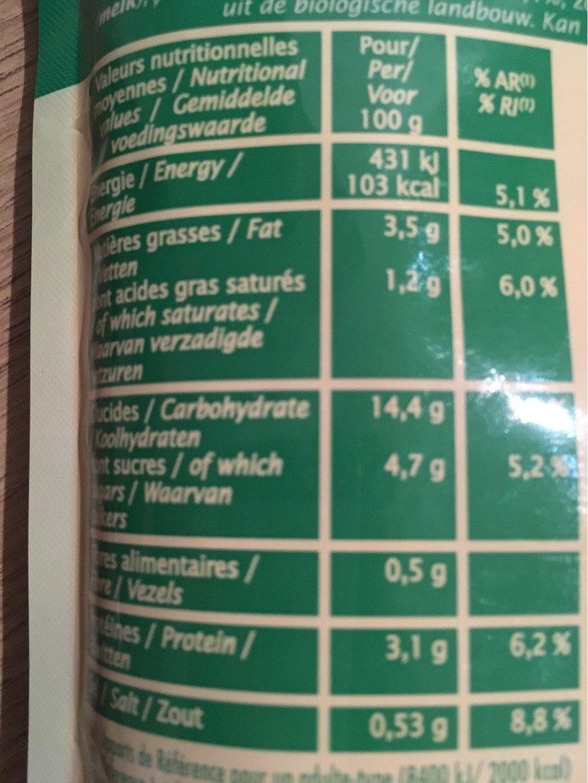 Ravioli chèvre ciboulette - Informations nutritionnelles - fr