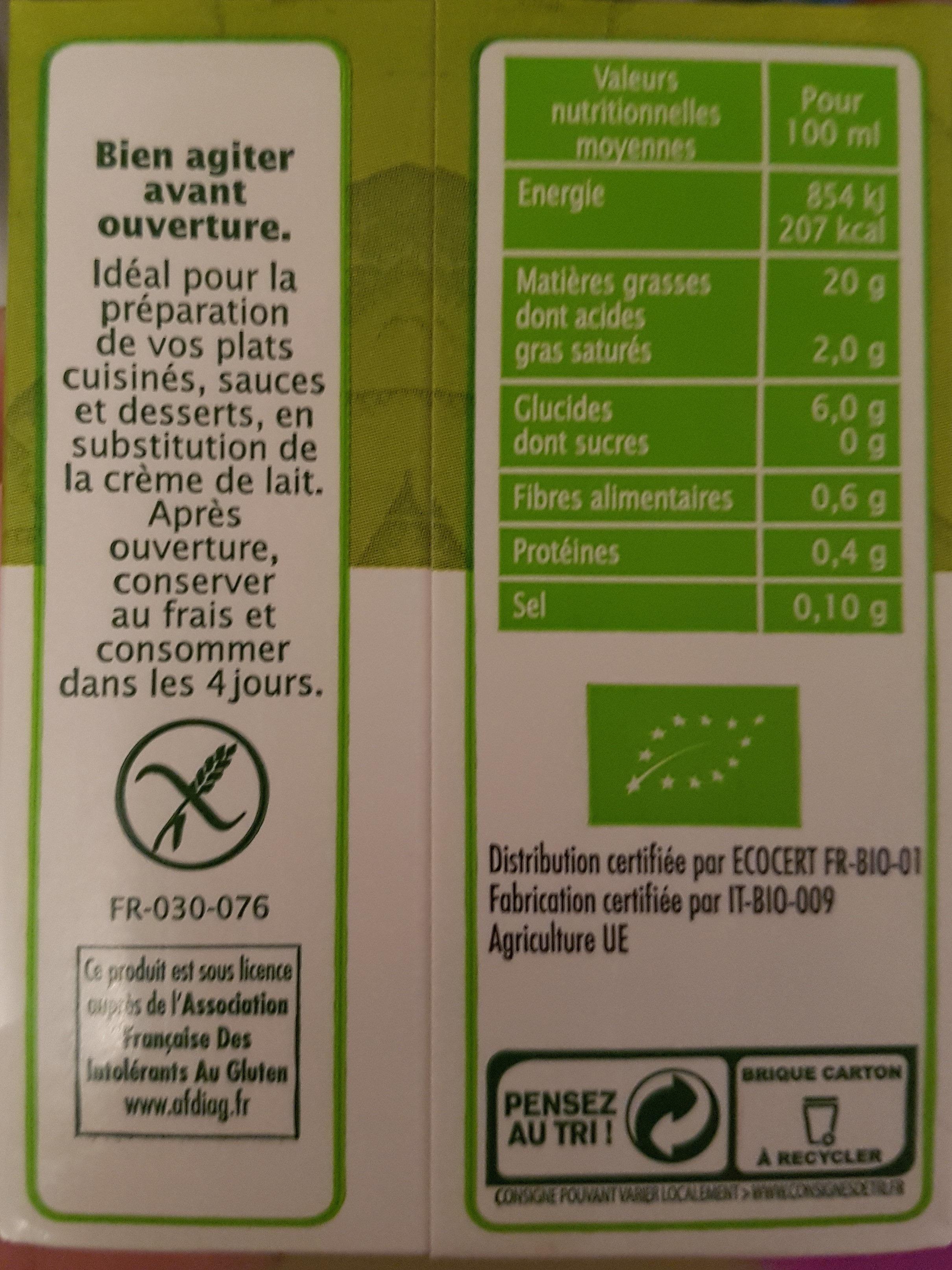Riz cuisine léger - Nutrition facts - fr