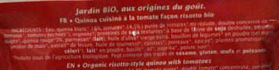 Quinotto tomate parmesan - Ingrédients
