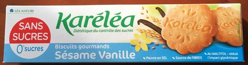 Biscuits gourmands Sésame Vanille - Produit