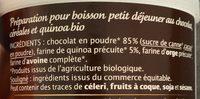 Chocolat gourmand au quinoa - Ingrediënten - fr