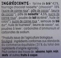Tartinettes chocolat noisette - Ingredientes - fr