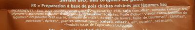 Boulgour de pois chiches - Ingrédients - fr