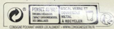 Haricots blancs à la tomate - Instruction de recyclage et/ou informations d'emballage - fr