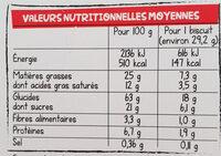 Nos p'tits trèfles à Croquer au Chocolat noir fondant - Nutrition facts